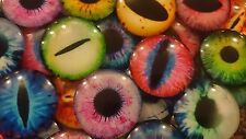 Berties Beads Dragon Glass Eye 4 Cabochons Model Making cat 30mm frog Halloween