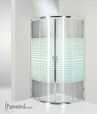 Box doccia Cabina Bagno Semicircolare 90x90 Cristallo SERIGRAFATO 6mm