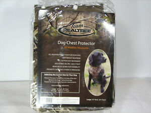 Team Realtree Dog Chest Protector Large All Weather Neoprene Adjustable new