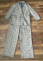 Next Tailoring Ladies checked Trouser Suit Size 22 Smart Work Office Plus size