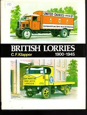 British Lorries, 1900-1945 by Charles Frederick Klapper (1973, Book, Illustrated