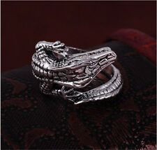 Men's Stainless Steel Silver Fashion Gothic lizard Male Finger Ring Size 10