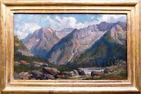 Johannes Albertus Hesterman 1877-1955: Gebirgstal in den Alpen, Ölgemälde 1920
