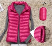 Women Winter Lightweight Down Vest Warm Coat Sleeveless Jacket Hooded Waistcoat