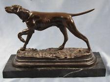Antikes Bronzerelief Jagdhund Setter Mit Beute Jäger & Waidmann hase Bronze