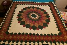 """Lone Star Lap Quilt Hand Quilted 58"""" X 58"""""""