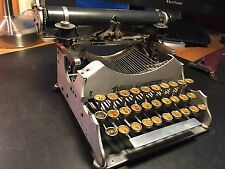 1910 Standard Aluminum Folding Typewriter with case  Good Vintage Condition