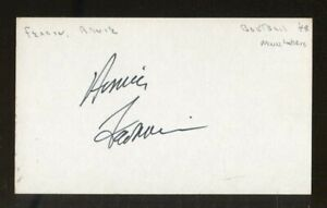 Arnie Ferrin Signed Index Card 3x5 Autographed Minneapolis Lakers 70820