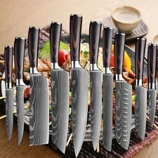 Kitchen Knife Set Japanese Damascus Style Stainless Steel Cleaver Chef's Knife
