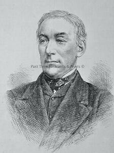 1871 Original Print PORTRAIT of R. HON. W. MONSELL M.P. POSTMASTER GENERAL