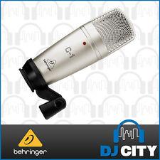 Behringer C-1 Large Diaphram Vocal Studio Condenser Microphone - BNIB - DJ Ci...