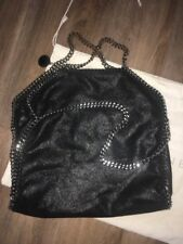 Stella McCartney Falabella Fold Over Tote bag in Black with silver hardware