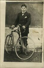 PHOTO ANCIENNE - CARTE PHOTO - CPA - VÉLO CYCLISTE BICYCLETTE - BIKE BICYCLE 3