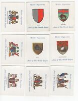 1933 Wills's Arms of the British Empire Tobacco Cards Near Set of 23/25