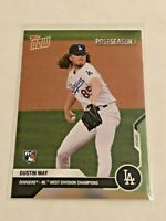 2020 Topps Now Baseball Postseason Card - Dustin May RC - Los Angeles Dodgers