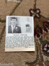 k2-6  ephemera 1966 picture wedding sandra shepherd david musson ramsgate
