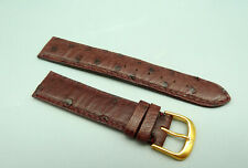 RRGH Orig KAUFMANN Leder Armband STRAUSS braun leather brown 18mm TOP unbenutzt