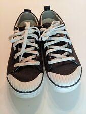 Keen Elsa Vegan Casual Sneaker Womens US Size 8 Black White Canvas Shoes