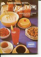 COOKING WITH SWEET 'N LOW RECIPE MINI BOOKLET CAKES COOKIES PIES ROLLS 1965