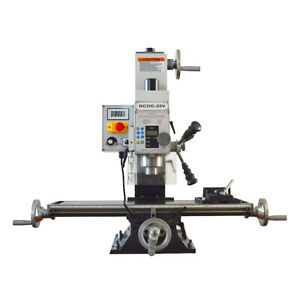 """RCOG-25V Precision Mill/Drill Bench Top Mill and Drilling Machine 110V 27*7"""""""