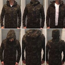 Nike Tech Fleece Hoodie Men's  CAMO KHAKI SEQUOIA BLACK SIZE S