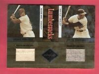 FRANK & JACKIE ROBINSON 2 GAME USED JERSEY CARD #d 18/25 2004 LIMITED DODGERS