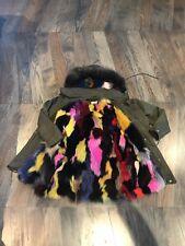 Jocelyn Multi Color Fox Fur Jacket