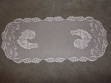 New White lace Rooster  design Runner 34 x 14