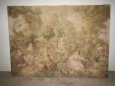 Antique French Tapestry ''36x26'' Inches
