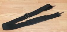 Unbranded Solid Black Nylon Camera Bag / Luggage Strap Only w/ Shoulder Support