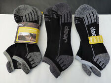 JEEP Cushion Trainer Sock M863 Mix Black Stripe UK 6-11 Sport Ankle Socks BNIP