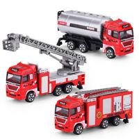 3pcs Fire Engine Fire Fighting Truck Alloy Diecast Kids Toy Vehicle Model Car