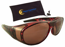 6c804eb9d0b Sun Shield Blue Blocking Fit Over Sunglasses by Ideal Eyewear - HD Copper  Lenses