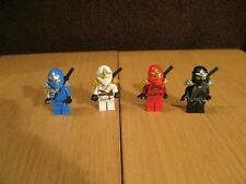 LEGO - 4 ZX - NINJAGO - FIGURAS Cole / Jay / KAI / ZANE