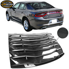 Fits 11-21 Dodge Charger Rear Window Louver Cover IKON Style Carbon Fiber Print