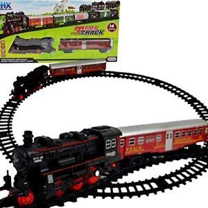 Elektrische Eisenbahn Lok Kinder  Eisenbahn mit Bahnhof Schienen Eisenbahn