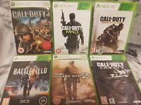 Xbox 360 Call Of Duty Games Bundle Plus Battle Field 3 6 Games