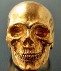 MENS SKULL RING Bronze Skull ring biker masonic  skull ring handmade masonic