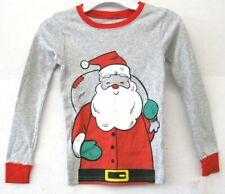 Carters Enfants Unisexe Pyjama T-Shirt Gris Long Manche Taille 6 Imprimé Neuf