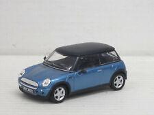 Mini Cooper in blaumetallic/mattschwarz, ohne OVP, Hongwell/Cararama, 1:43