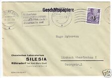 Bedarfspost, Mi.-Nr. DDR 438 EF, Fa. Silesia, Röhrsdorf, o Karl-Marx-Stadt, 1955