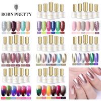 BORN PRETTY 6 Bottles/set Manicure Gel Polish Kit Nail UV LED Mirror Thermal Gel