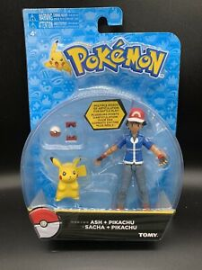 Pokemon ASH and PIKACHU Action Figure Tomy BRAND NEW NM Packaging