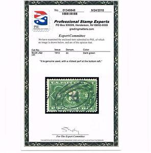 AFFORDABLE GENUINE SCOTT #JQ2 USED PSE CERT 1913 2¢ PARCEL POSTAGE DUE #6373