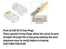 Platinum Tools EZ RJ45 Crimp Conectores De Red Lan Para Utp Cat 6-Paquete de 100