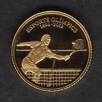 Andorra. 2010 Gold 1 Dinar.. Tennis.. 0.5grams  .999 gold.. Proof