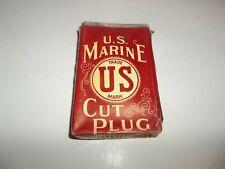 Vintage U.S. Marine Cut Plug Tobacco Package Advertising Tobacciana Collectible!