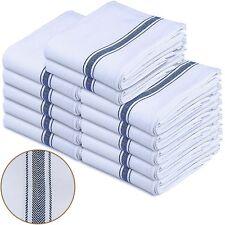 White Cotton Dish Towels LOT 12 Pack Utopia Kitchen Home Hotel & Restaurant Set