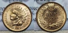 1909 Indian Head Cent 1c BU RED