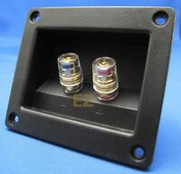 Speaker TERMINAL Plate With 2x Gold Binding Post Banana Plug Connector S941